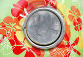 Headlamp of hippie car — Stock Photo