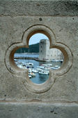 Port in Dubrovnik in the hole — Stock Photo