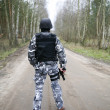 S.W.A.T soldier - Stok fotoraf