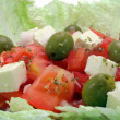 Greek salad closeup — Stock Photo