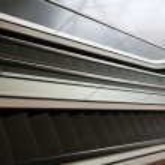 Empty escalators — Stock Photo