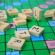 Mess on the scrabble board - Stockfoto