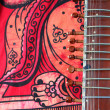 Old sitar - Stock Photo