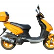 Stock Photo: Yellow scooter with clipping path