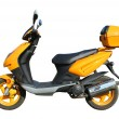 Yellow scooter witn clipping path — Stock Photo
