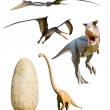 Four most popular dinosaurs - CP — Stock Photo