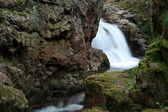 Small waterfall in Sowie mountains — Stock Photo