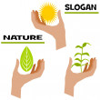 Slogan nature — Stock Photo