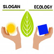 Slogan ecology — Foto de Stock
