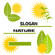 Slogan nature — Stock fotografie