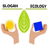 Slogan ecology — Stock Photo