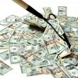 Raking In The Cash — Stock Photo