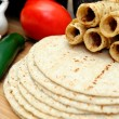 Corn Tortillas And Taquitos — Stock Photo #2064494