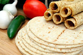 Corn Tortillas And Taquitos — ストック写真
