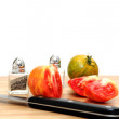 Stock Photo: Sliced Heirloom Tomato