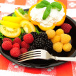 Stock Photo: Fresh Berry And Cottage Cheese Salad