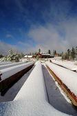 被遗弃的滑雪胜地 — 图库照片