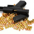 Black Handgun And Bullets — Stock Photo #2091875