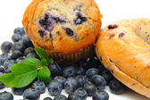 Muffin And Bagel — Stock Photo