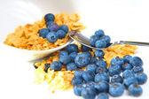Les céréales et les bleuets — Photo