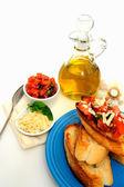 Bruschetta With Olive Oil — Stock Photo