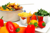 Chili Beans And Peppers — Stock Photo