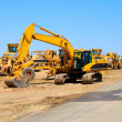 Постер, плакат: Excavator And Heavy Equipment