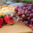 Stock Photo: Berries And Wine Glass