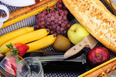 Inside A Picnic Basket — Stock Photo