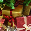 Christmas Gifrts Under Tree — Stock Photo #2130087
