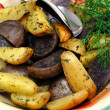 Stock Photo: Roasted Potatoes With Dill