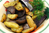 Roasted Potatoes With Dill — Stock Photo