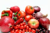 Verdure e frutta rossa — Foto Stock