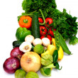 Assorted Vegetables On White — Stock Photo