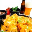 Stock Photo: Nacho and Beer