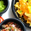 Nachos and Toppings - Stock Photo
