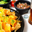 Nachos and Beer — Stock Photo