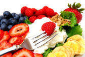 Cottage Cheese And Berries — Stock Photo