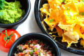 Nachos and Toppings — Stock Photo
