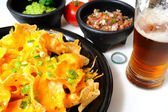 Nachos and Beer — Stockfoto