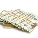 Twenty Dollar Bills Isolated — Stock Photo