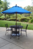 Wrought Iron Table With Umbrella — Stock Photo