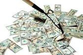 Raking In The Cash — Stock Photo