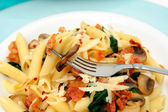 Penne Pasta On A Fork — Stock Photo
