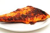 Re-heated Burnt Pizza — Stock Photo