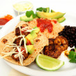Shrimp Taco Plate — Stock Photo