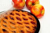 Apple Pie And Apples — Stock Photo
