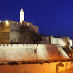 The old city wall of Jerusalem — Stock Photo