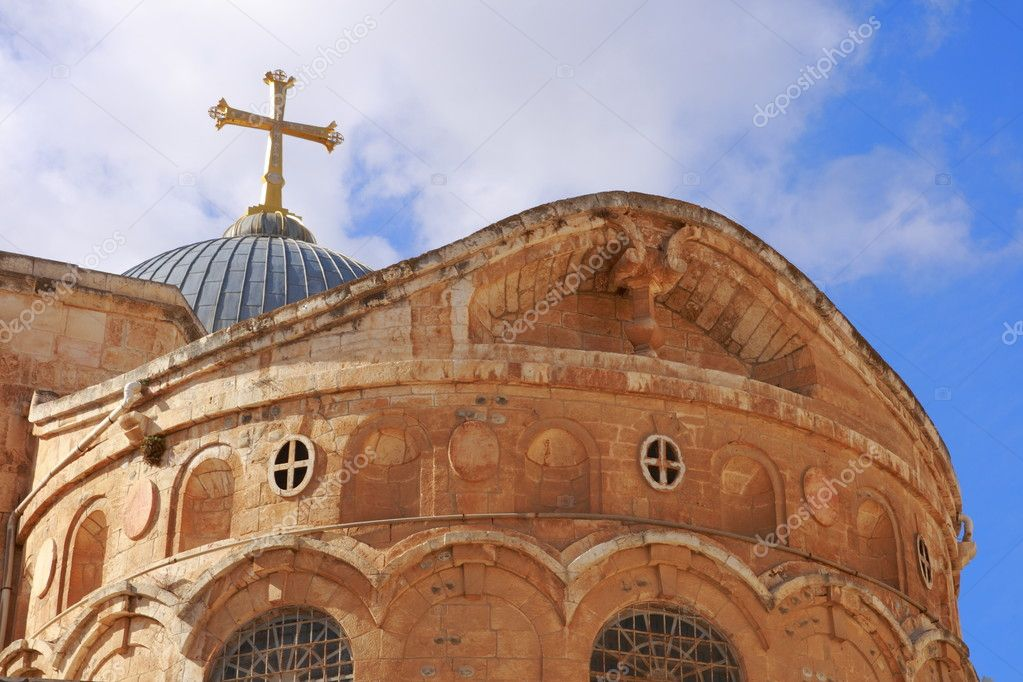 The old city of Jerusalem with the Holy Sepulcher — Stock Photo #1990530