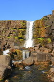 Oxarafoss is a waterfall in Thingvellir National Park in Iceland — Stock Photo